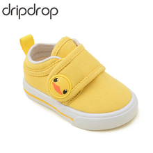 DRIPDROP Kids Canvas Sneaker Baby Girl Shoes Boys First Walkers Children with Hook-and-Loop