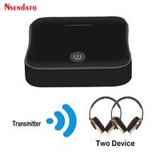 Bluetooth 5.0 kablosuz ses adaptörü 2 In 1 kablosuz verici TV alıcısı dijital optik Toslink/SPDIF ile CSR8675 APTX HD
