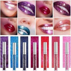 7 Color Glitter Lipstick Long