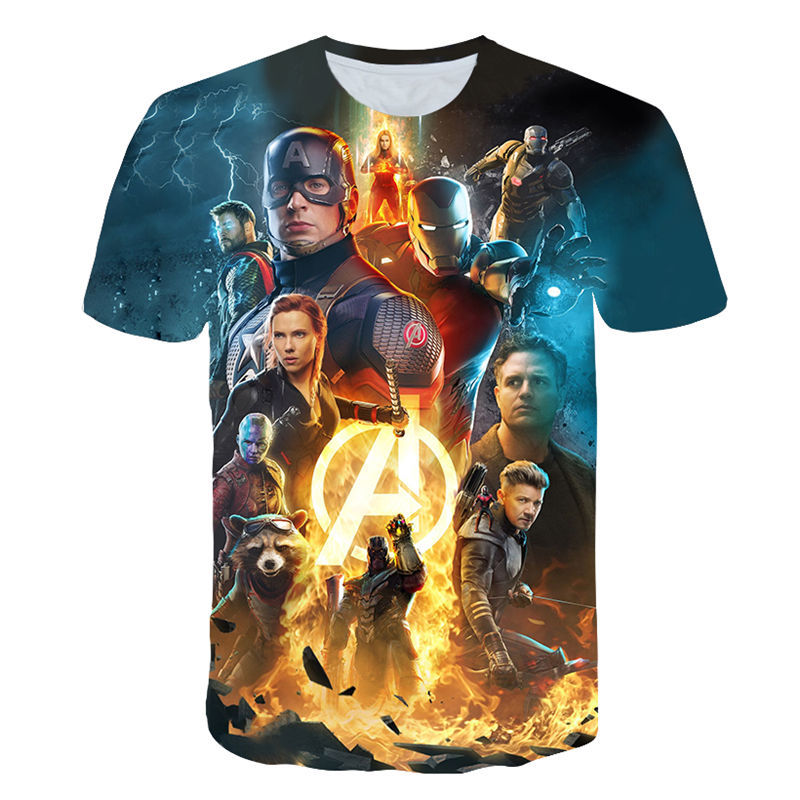 men's new summer fashion   t     shirt   2019 NEW Miracle Avengers 4 final   t     shirt   3d Cosplay printing   T     shirt   superhero America Tops