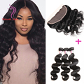 Peruvian Virgin Hair Body Wave With Closure Pre Plucked Frontal With Bundles Vishine Hair With Frontal Body Wave With Frontal