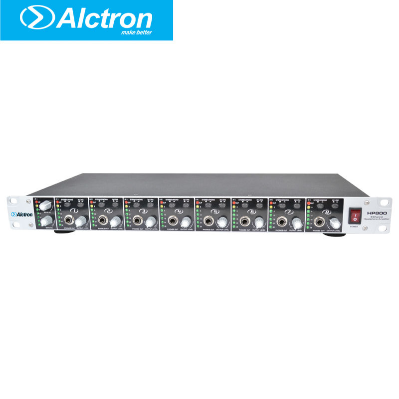 Alctron HP800 Professionnel 8 Canal multifonctionnel Casque Préamplificateur, casque Amplificateur, Pro Casque Amplificateur