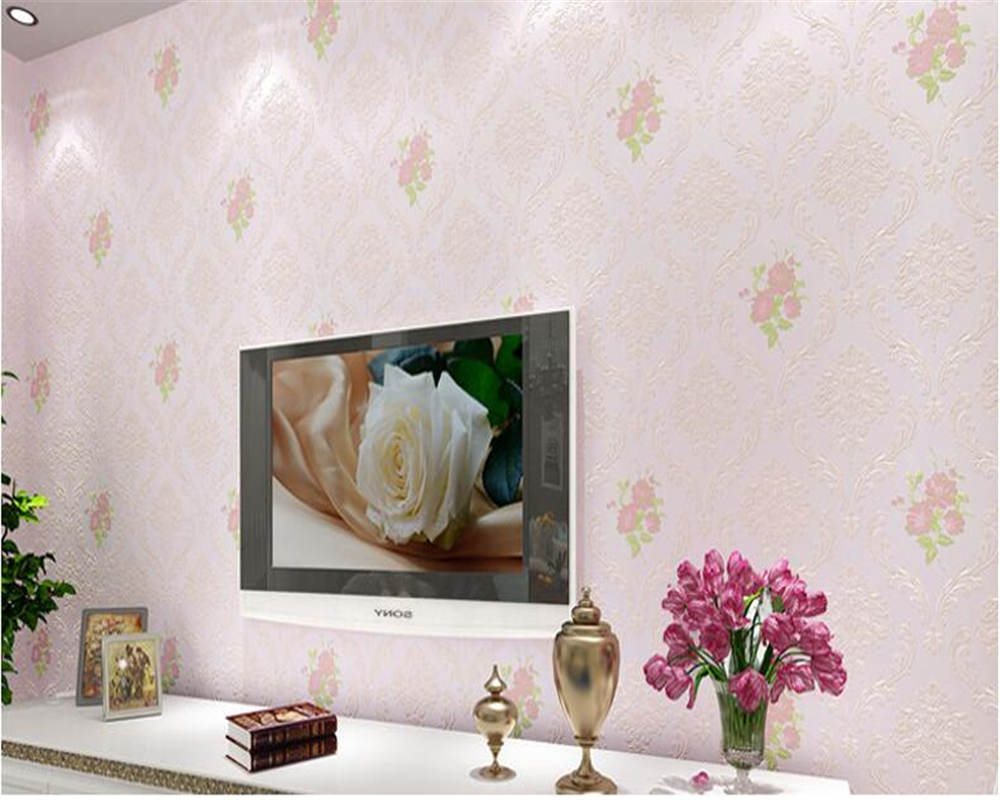 beibehang 3D European pastoral non-woven TV background wall special home improvement wall paper papel de parede 3d wallpaper beibehang non woven pink love printed wallpaper roll striped design wall paper for kid room girls minimalist home decoration