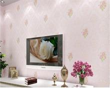 beibehang 3D European pastoral non-woven TV background wall special home improvement paper papel de parede 3d wallpaper
