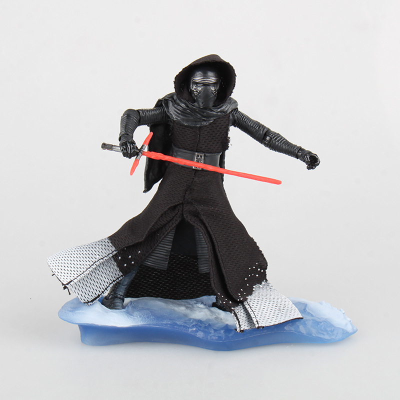 Black Man Kylo Ren Star 7 Warrior DIY Doll Animiation Action Figure Kids Toys Gift Model Ornaments Cartoon Version Miniature