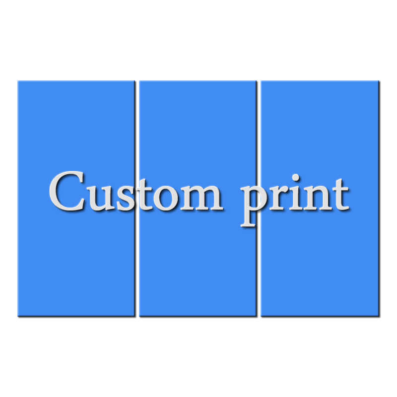 Artcozy Custom Print Waterproof Canvas Painting Wall Art Pictures Home Decor Spray Printings Plastic Safe Pipe Packing