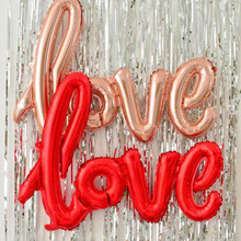 Love Baloon Inflatable Balls Air Love Shape Decoration For Valentine Christmas Party Wedding -Drop