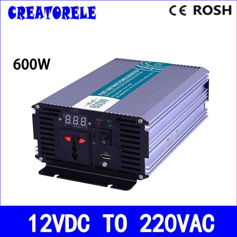 цена на P600-122 600w inverter pure sine wave 12vdc to 220vac voltage converter,solar inverter