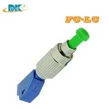 цена на 5pcs/lot SC to LC Adapter, Singlemode 9/125 Male to Female hybrid adaptor SC-LC Optical fiber connector SC LC Adapter