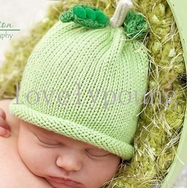 Детские фрукты шапки детские зимние трикотажные шляпа MOQ 1 шт