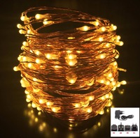 50M 500LED Silver Copper Wire LED Starry String Lights Christmas Wedding Fairy Garland Outdoor Decoration With 12V Power Adapter