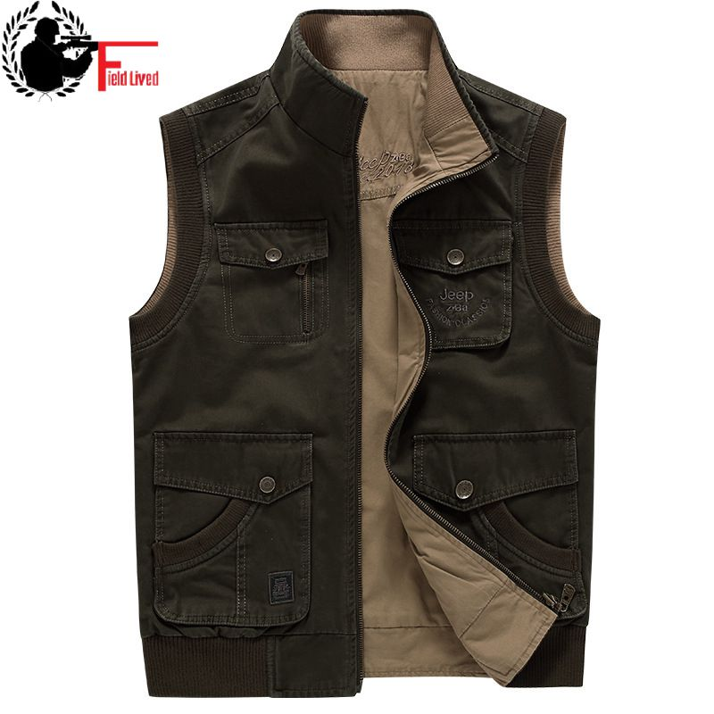2019 Men's Vest Sleeveless Jacket Plus Big Size Waistcoat Male Photographer Large Size 5XL 6XL 7XL 8XL 9XL Many Pocket Unloading