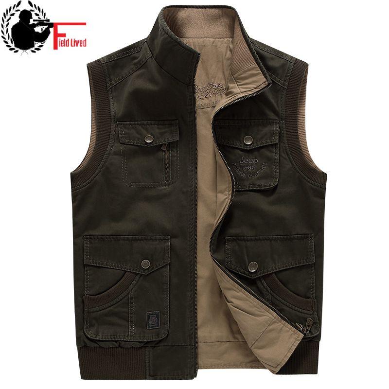 2019 Men's Vest Sleeveless Jacket Plus Big Size Waistcoat Male Photographer Large Size 5xl 6xl 7xl 8xl 9xl Many Pocket Unloading As Effectively As A Fairy Does