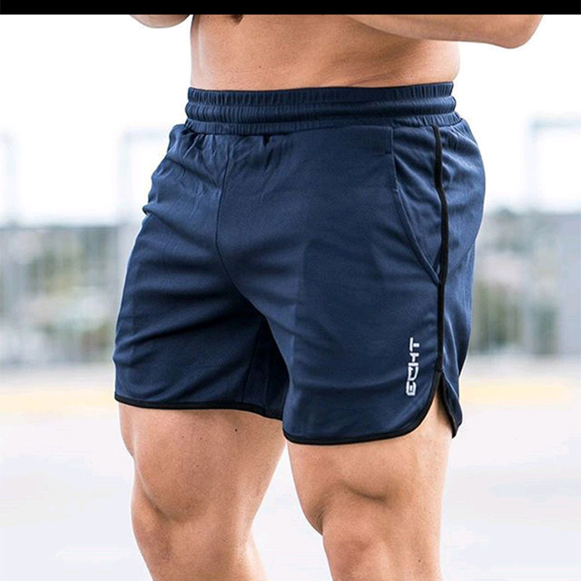 New Men Fitness Bodybuilding Shorts Man Summer  Workout Male Breathable Mesh Quick Dry Sportswear Jogger Beach Short Pants 4