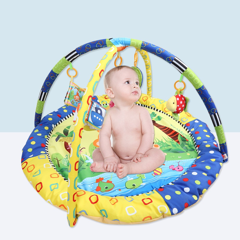 Cartoon Soft Baby Play Mats Game Mat Kids Infant Floor Carpet Paradise Pad Educational Hanging Rattle Crawling Toy Rugs Playmat