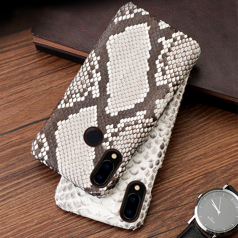 Étui de téléphone pour xiaomi mi 5 S 6 8 A1 A2 lite Max 2 3 mi x 2 S étui vraiment en peau de Python pour mi Note rouge 4 4A 4X5 5A Plus