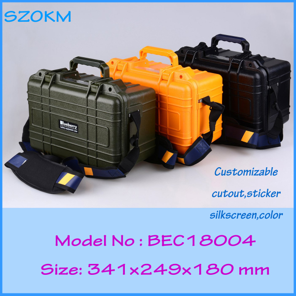 Plastic shockproof waterproof tool case  341X249X180MM