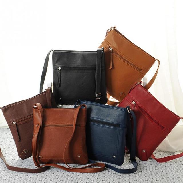 2018 New Fashion Womens PU Leather Bag New Designers Lady Satchel Crossbody  Shoulder Messenger Bag Handbag c040357f9253c