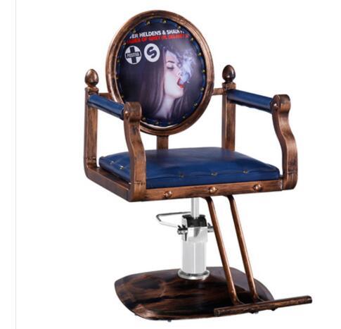 Retro Barbershop Chair Salon Dyeing Chair Clipper Hair Salon Hydraulic Chair Master Chair