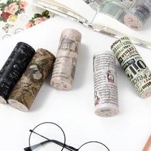 10 cm x 5 m inglés matasellos carteles vintage washi cinta niños bricolaje decoración cinta adhesiva adhesivos para álbumes de recortes de papelería
