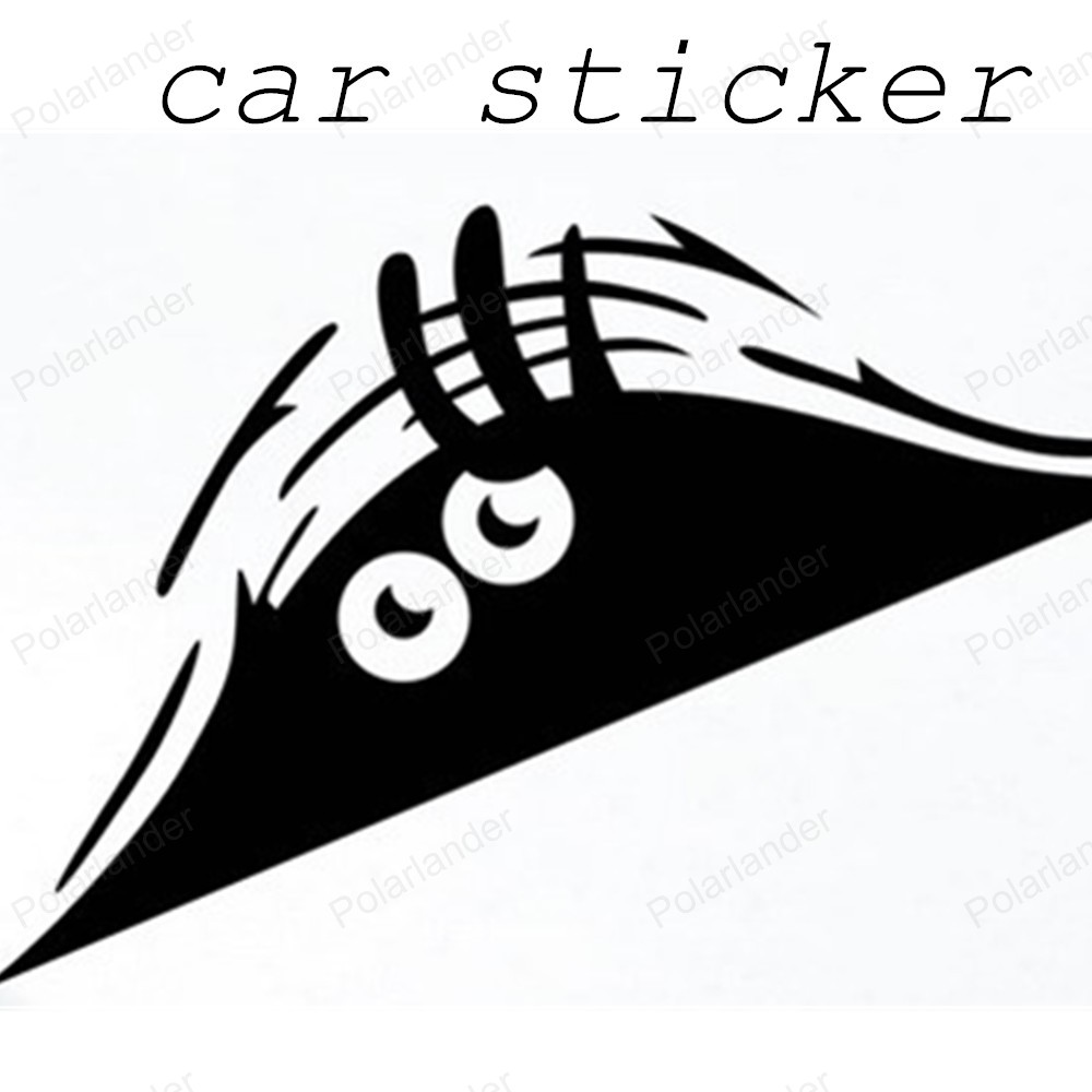 Sticker designs for car - New Design Funny Peeking Monster Auto Car Walls Windows Sticker Graphic Vinyl Car Decals Car Stickers Accessories
