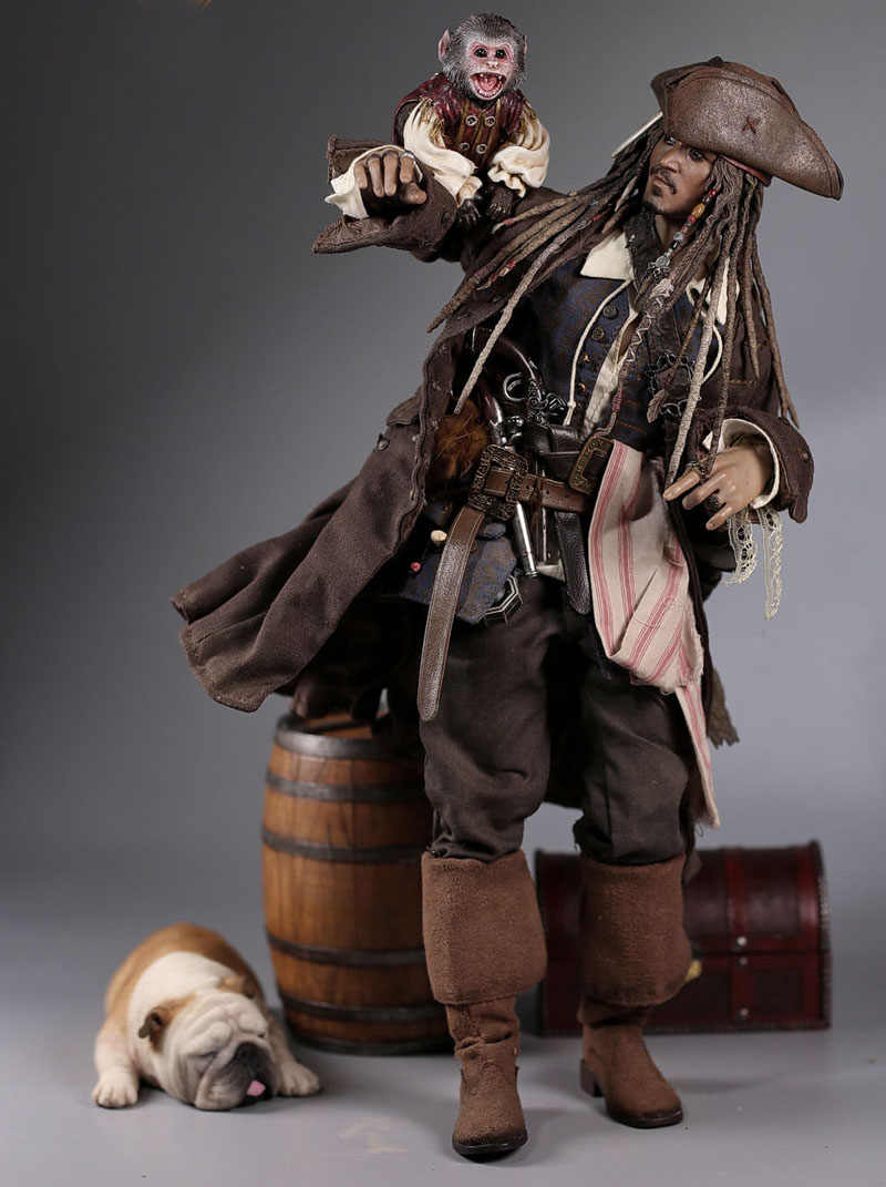 1//6 Mr.Z Scale Animal Resin Model Captain Jack Monkey And Boxes Statue Gift New