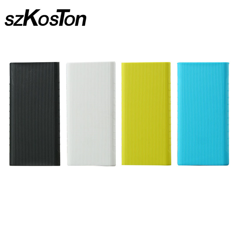 External Anti-slip Silicone Case Cover For <font><b>Xiaomi</b></font> Power Bank <font><b>2</b></font> <font><b>10000</b></font> <font><b>mAh</b></font> 20000 <font><b>mAh</b></font> 2C Power Bank Case Rubber Protector Cover image