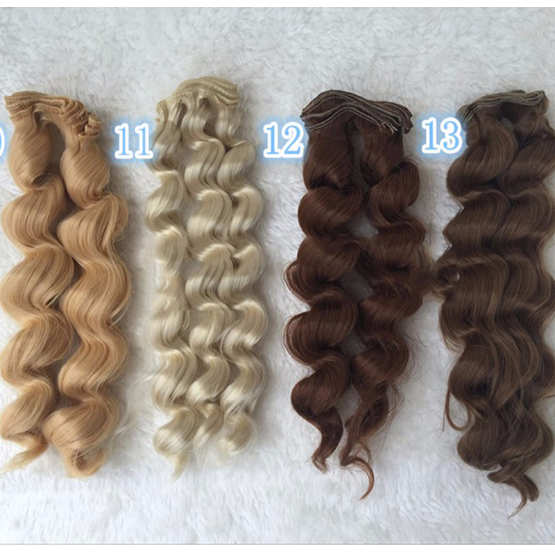 1PCS Retail New BJD Hair Accessories 25CM Synthetic Fiber Culry Doll Hair Wig For DIY 1pcs retail doll accessories synthetic dolls hair 15cm bjd wig doll diy