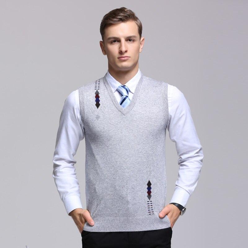 2019 Neue Mode Marke Pullover Herren Pullover V-ausschnitt Slim Fit Jumper Stricken Weste Herbst Koreanische Stil Casual Kleidung Männer Gute QualitäT