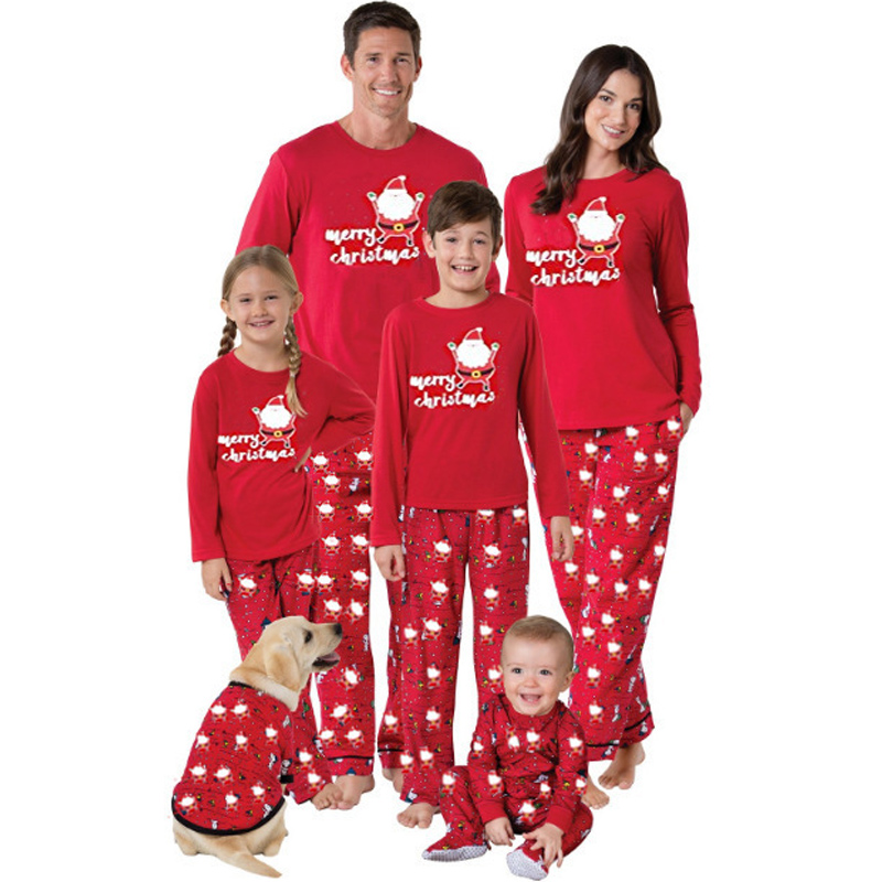 Family Christmas Pajamas Long Sleeve Cotton Autumn Sleepwear mommy and me Clothes Cartoon Mother Daughter Outfits Father And Son babar and father christmas