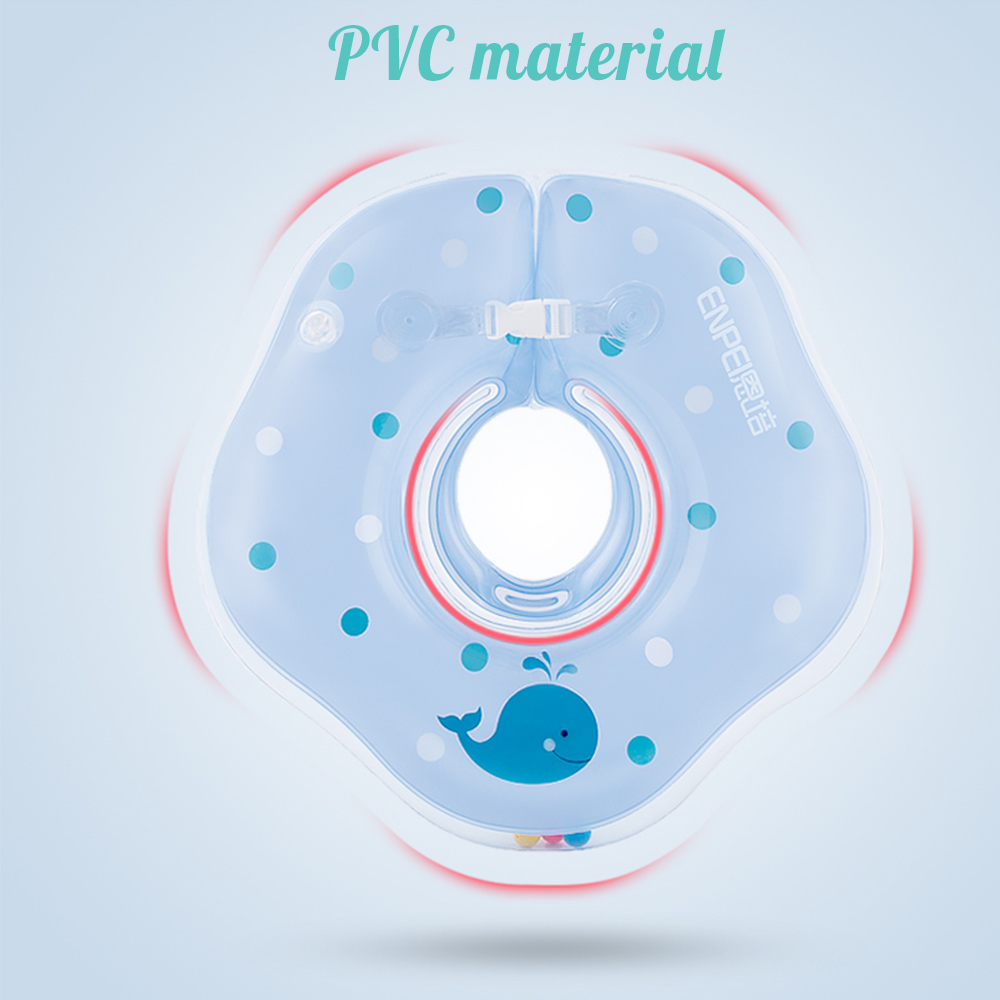 Baby Neck Float Inflatable Swimming Ring PVC Infant Neck Wheels For Newborns Bathing Swimming Pools Accessories