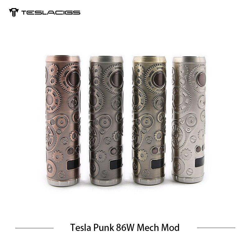E Cigarette Tesla Punk 86 W Mech Mod Teslacigs Max 86 W Mod mécanique unique 18650 Vape Cigarette électronique Mod VS Vgod Mech Mod