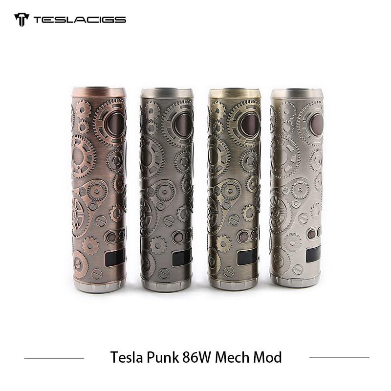 E Cigarette Tesla Punk 86 w Mech Mod Teslacigs Max 86 w Mécanique Mod Unique 18650 Vaporisateur Cigarette Électronique Mod VS Vgod Mech Mod