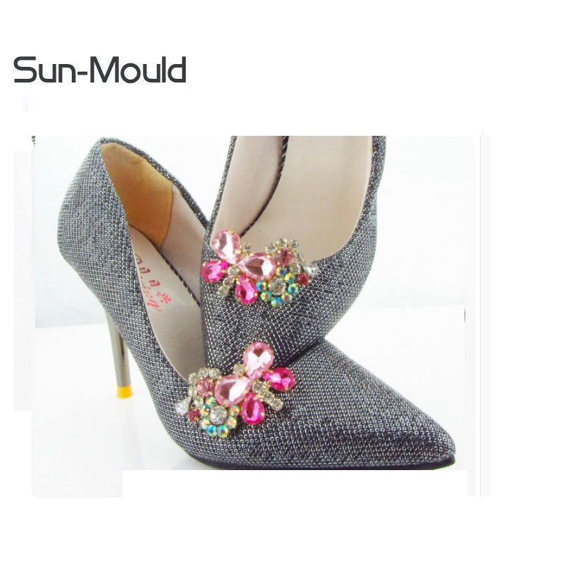 2018 new 1pair Diy shoes flower charms flats sandals high-heel pumps accessories crystal shoe clips wedding decoration clip