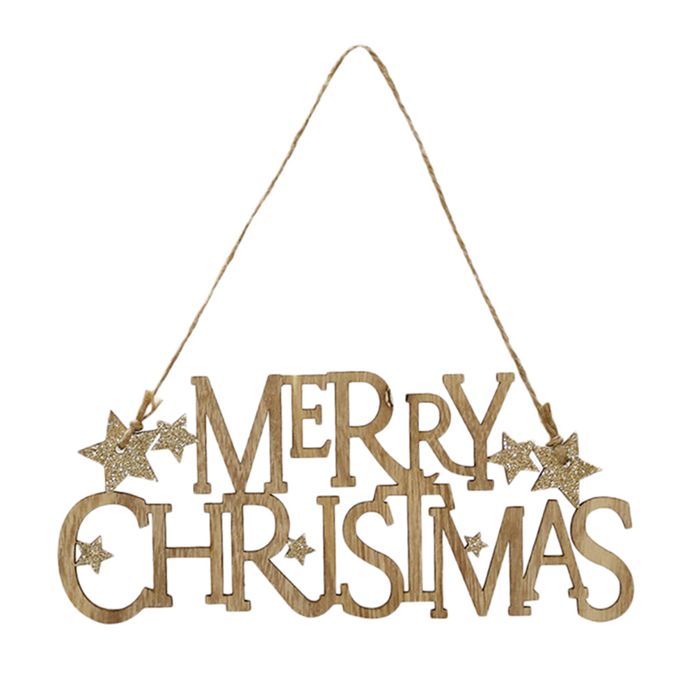 New Year Christmas Decorations Wooden Ornament Xmas Tree Hanging Tags Pendant Decor noel natale natal kerst navidad 2019 1