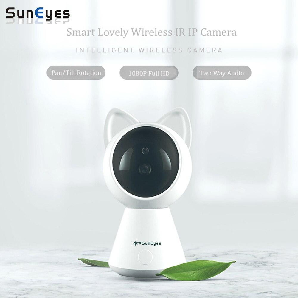 SunEyes SP-S1801W Wireless IP Camera 1080P 2.0MP Full HD Cute Cat Smart Pan/Tilt Camera P2P IR Night and Two Way Audio
