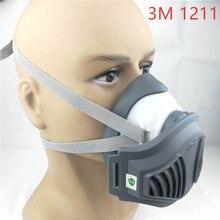 3M 1211 قناع + 12 قطعة 3M 1701 مرشح قناع واقي من الغاز منع الغبار مناسبة ل الصناعية truction الغبار حبوب اللقاح بالضباب