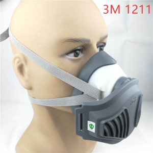 Image 1 - 3M 1211 mask+12pcs 3M 1701 Filter Gas Mask prevent Dust Suitable for industrial truction Dust pollen Haze
