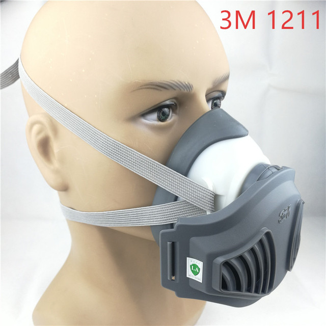 3M 1211 mask+12pcs 3M 1701 Filter Gas Mask prevent Dust Suitable for industrial truction Dust pollen Haze