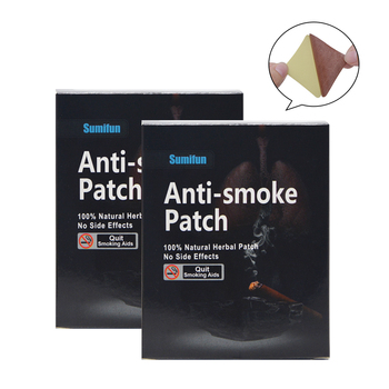 Sumifun 70Pcs/2Boxes Sumifun 100% Natural Ingredient Nicotine Patches Stop Smoking Patch for Smoking Cessation Patch D0583