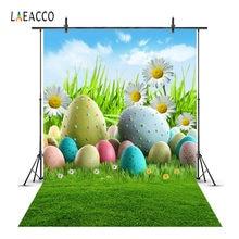 Ovos de Páscoa Laeacco Flores Pastagens Fotofone Backdrops Para Estúdio de Fotografia Fotografia Fundos Fotográficos Personalizados Do Bebê