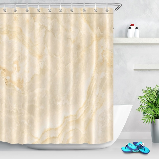 LB Nature Marble Texture Shower Curtain Set Waterproof Polyester Fabric Eco Friendly Bathroom For Bathtub Decor 12 Hooks