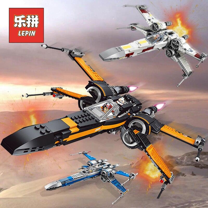 Лепин Starwars 05004 05145 05029 X крыло Star Tie Fighter строительные Конструкторы Совместимость Legoinglys Star Plan Wars детская игрушка 75149