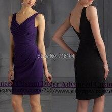 2017 cheap elegant short lavender purple bridesmaid dresses sexy open back party dresses special occasion gown vestido de festa