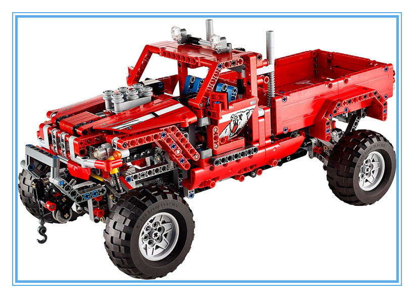 New decool 3362 TECHNIC 2 in 1 Pickup Truck 1053pcs Toy building blocks bricks kids car model SUV Off-road boy gift in stock dhl decool 3333 building blocks toy 1 10 car model supercar red assemblage racing brain game gift clone 8145