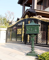Hot Sale vertical Mailbox Mail Box Aluminium alloy upright Metal Post Letters Box Country Cast Iron garden outdoor supply