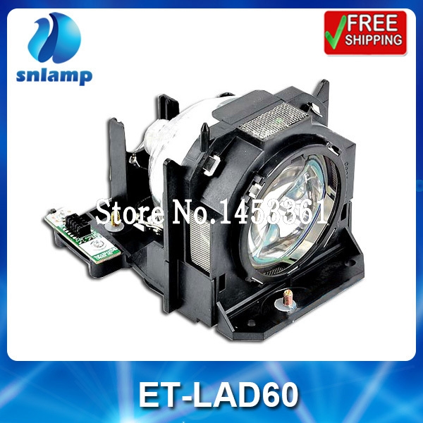 Replacement projector lamp bulb with housing ET-LAD60 for PT-D5000 PT-D6000 PT-D6710 PT-DW6300 et lab10 replacement projector bulb lamp with housing for panasonic pt u1x68 ptl lb20su pt u1x67 pt u1x88 pt px95 pt lb20