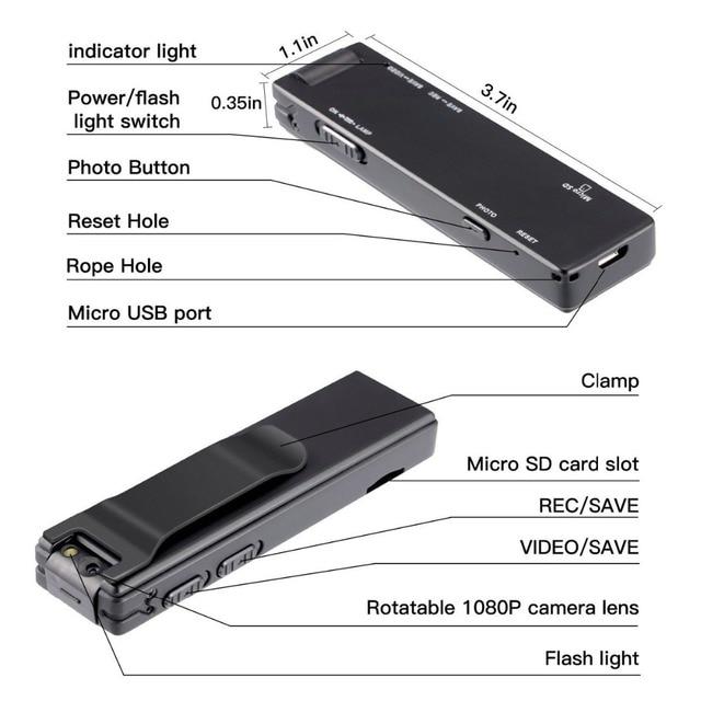 Vandlion A3 Mini Digital Camera HD Flashlight Micro Cam Magnetic Body Camera Motion Detection Snapshot Loop Recording Camcorder 3