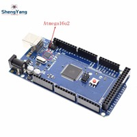 ShengYang Mega 2560 R3 With Logo Mega2560 REV3 ATmega2560 16AU Board Not USB Cable Compatible Mega
