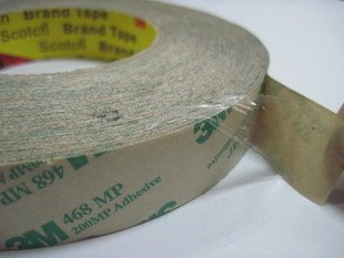 15mm*55M, 0.13mm Thick, Double Sided Adhesive Tape, for PCB, LCD Display, Control Panel, Metal, Rubber Bonding, 3M 468MP 200MP 3m 468mp 43mm 55m 0 13mm double sided adhesive tape 200mp metals paints wood bonding together for automotive appliance